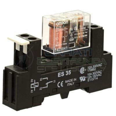 Relè Omron G2R-1 230V 10A 5 PIN SPDT con zoccolo per montaggio DIN Omron
