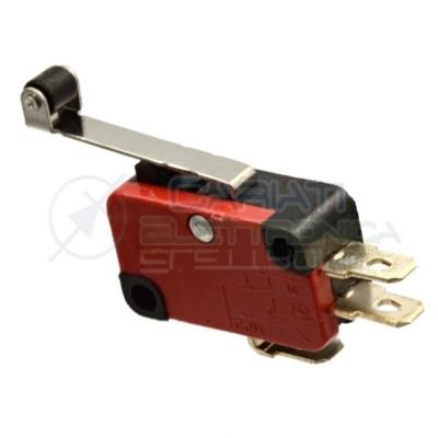 Microswitch Pulsante Fine Corsa Micro Switch a Leva con Rotella Generico