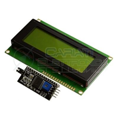 Display Lcd Character Lcm Verde 20x4 2004 + SERIALE I2C / IIC PER ARDUINO