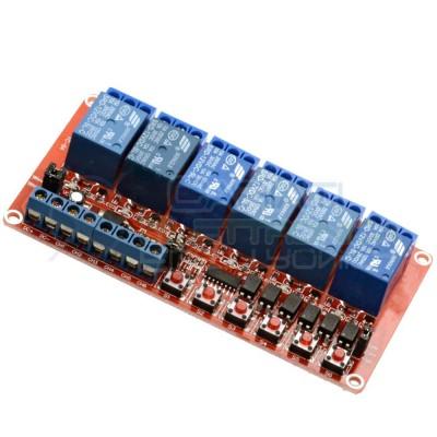 Scheda 6 Relay Relè 12V Dc 10A SONGLE SRD-12VDC-SL-C SPDT Monostabile Bistabile