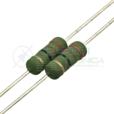10 pcs Metal Film Resistor 120 ohm 2W 2 Watt 5% 120Ohm