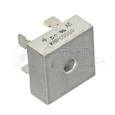 1 PEZZO Ponte di diodi KBPC5010 50A 1000V Raddrizzatore Monofase DC COMPONENTS