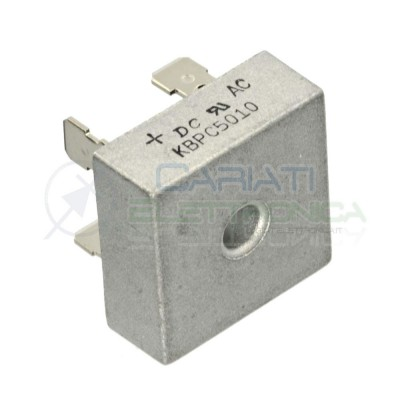 Diode Single phase bridge rectifier KBPC5010 50A 1000V 1KvDC COMPONENTS
