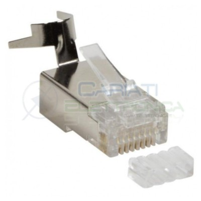 2 PEZZI PLUG CONNETTORE RJ45 CAT 6 6A 7 AWG23 CAVO LAN SCHERMATO FTP ETHERNETGenerico