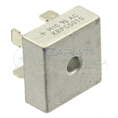 1 PEZZO Ponte di diodi KBPC5010 50A 1000V Raddrizzatore Monofase MIC