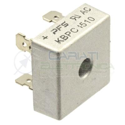 1 PEZZO Ponte di diodi KBPC1510 15A 1000V Raddrizzatore Monofase PFS Sep 0,89€