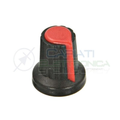 5 PEZZI Manopola Pomello Knob Rossa per Potenziometro con diametro innesto 6mm