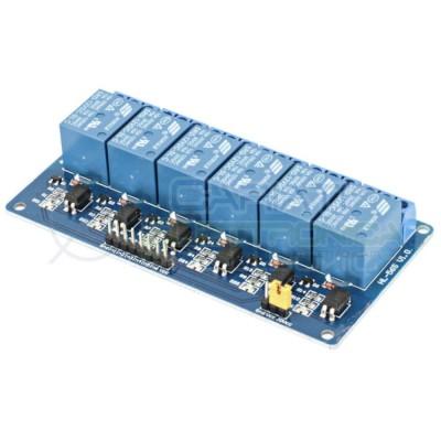 Modulo scheda relè 6 canali optpisolati 10A 250Vac Arduino Shield Relè 12V con led Generico