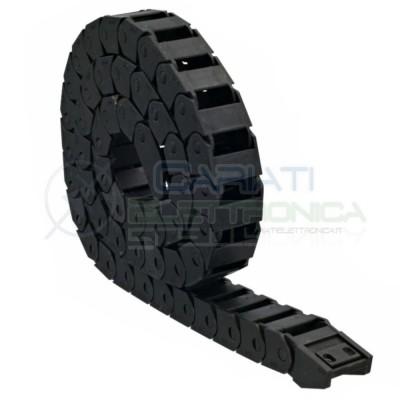 Catena Nera Passacavi Portacavi Porta Cavo 15x20 mm 1 metro CNC Stampante 3D Generico