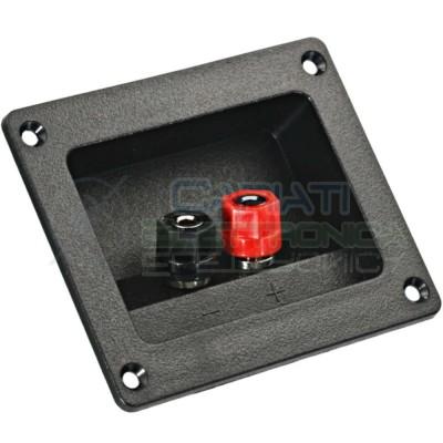 1 PEZZO Morsettiera Quadrata 2 poli per casse Acustiche Speaker AltoparlantiGenerico