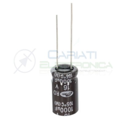 10 pcs electrolytic capacitor 1000uF 1000 uF 16V 85° 10X16 mm connector pitch 5mm SAMWHASamwha