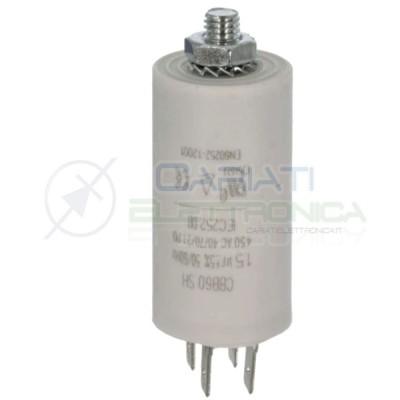 Condensatore per motori 1,5uF 450V Capacitore Motore Pompa Elettropompa