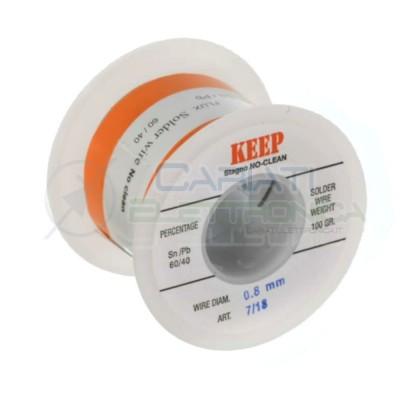 100gr Reel soldering wire 0,8mm 60/40 Sn60 PB40 NoClean Keep SalderKeep