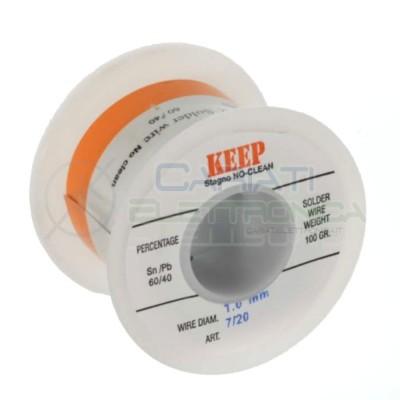 100gr Reel soldering wire 1mm 60/40 Sn60 PB40 NoClean Keep Salder Keep