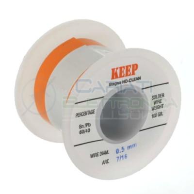 100gr Reel soldering wire 0,5mm 60/40 Sn60 PB40 NoClean Keep SalderKeep