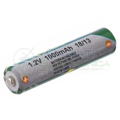 BATTERIA RICARICABILE NI-MH 1,2V 1000mAh AAA MINISTILO EXRTRACELL Extracell
