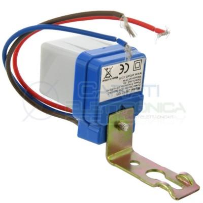 Interruttore Sensore Crepuscolare 6A 220V per Luci Lampade Faro LED Esterno Elcart