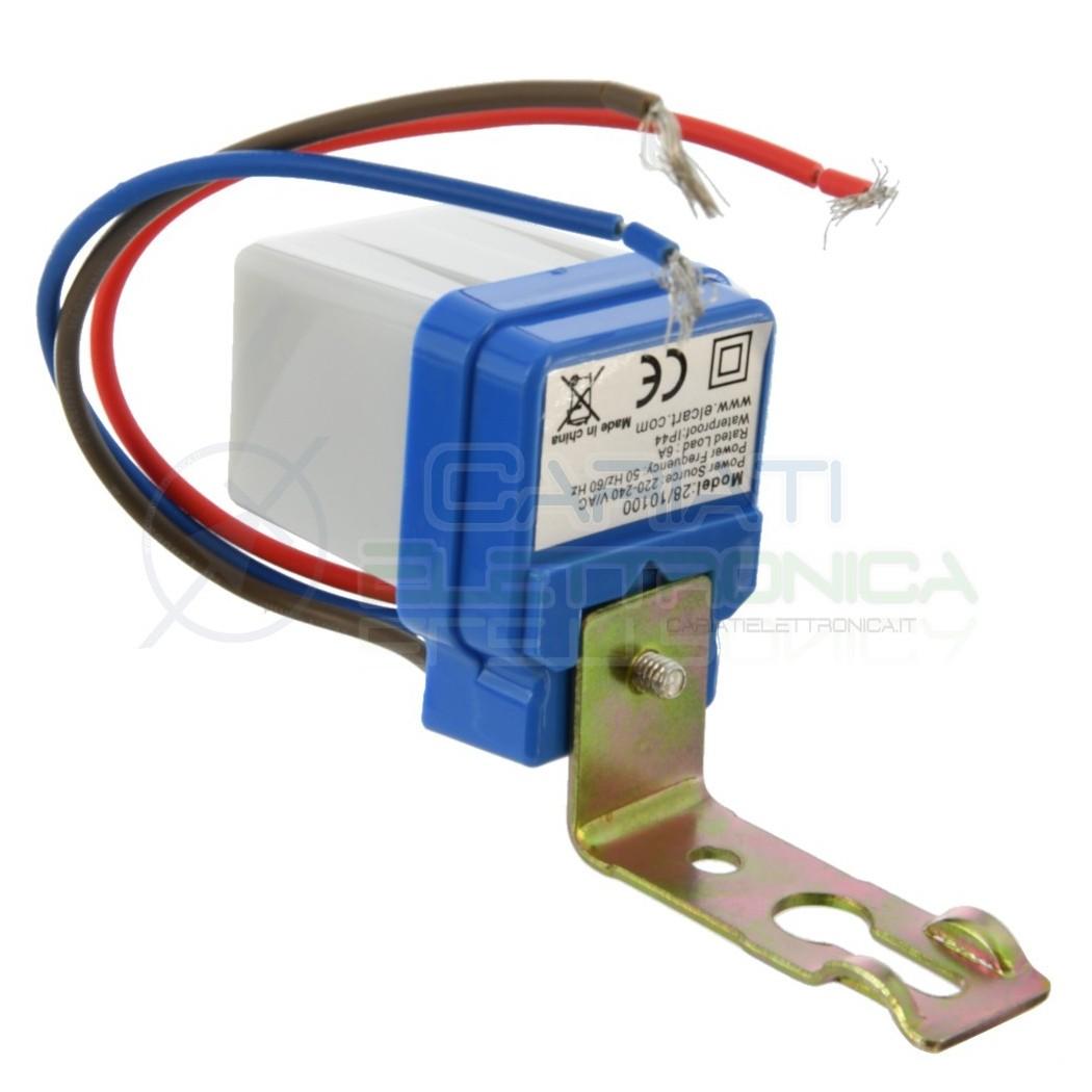 Interruttore Sensore Crepuscolare Mini da 6A 220V Per Lampade Faro Faretto LED