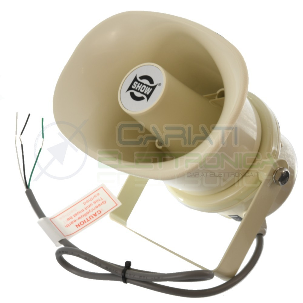 Speaker cassa diffusore a tromba 100v 10w sc 10ah ip66 da esterno 1 - Altoparlanti da esterno ...