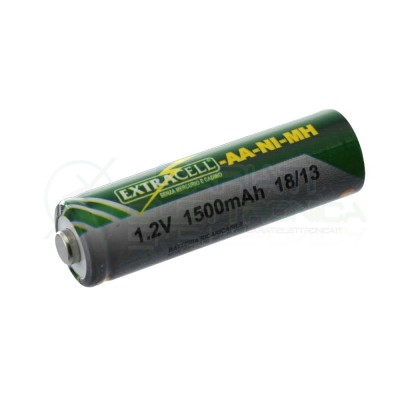 Battery rechargeable NI-MH 1,2V 1500mAh AA ExtracellExtracell