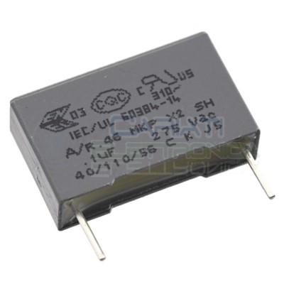 2 pezzi Condensatore 100nF 0.1uF 275Vac X2 poliestere MKP Passo 15mm 10% R46 Kemet