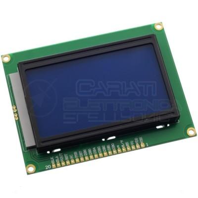 Display grafico 128x64 LCD retroilluminato BLU Arduino Pic ST7920 standard  9,49€