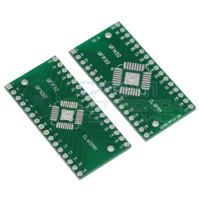 2 PEZZI Adattatore Basetta Test PCB QFN32 QFN32 DIP32 Passo 0,65 mm 0,8 mm