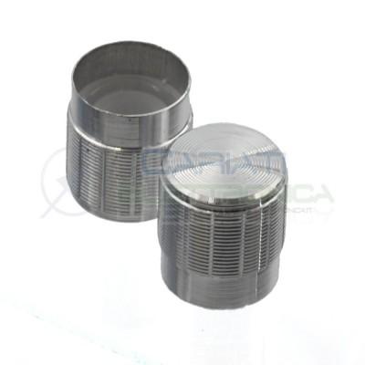2 PEZZI Manopola Pomello Knob Cromata per Potenziometro con diametro innesto 6mm
