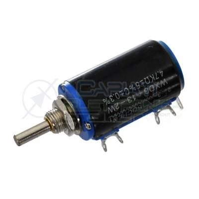 Potenziometro Multigiro Lineare 2Watt 4,7Kohm WXD3-13-2W 2 Watt 4,7 Kohm
