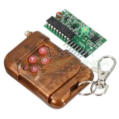 4 CANALI 315Mhz TELECOMANDO Raspberry PI Arduino Ricevitore TrasmettitoreGenerico