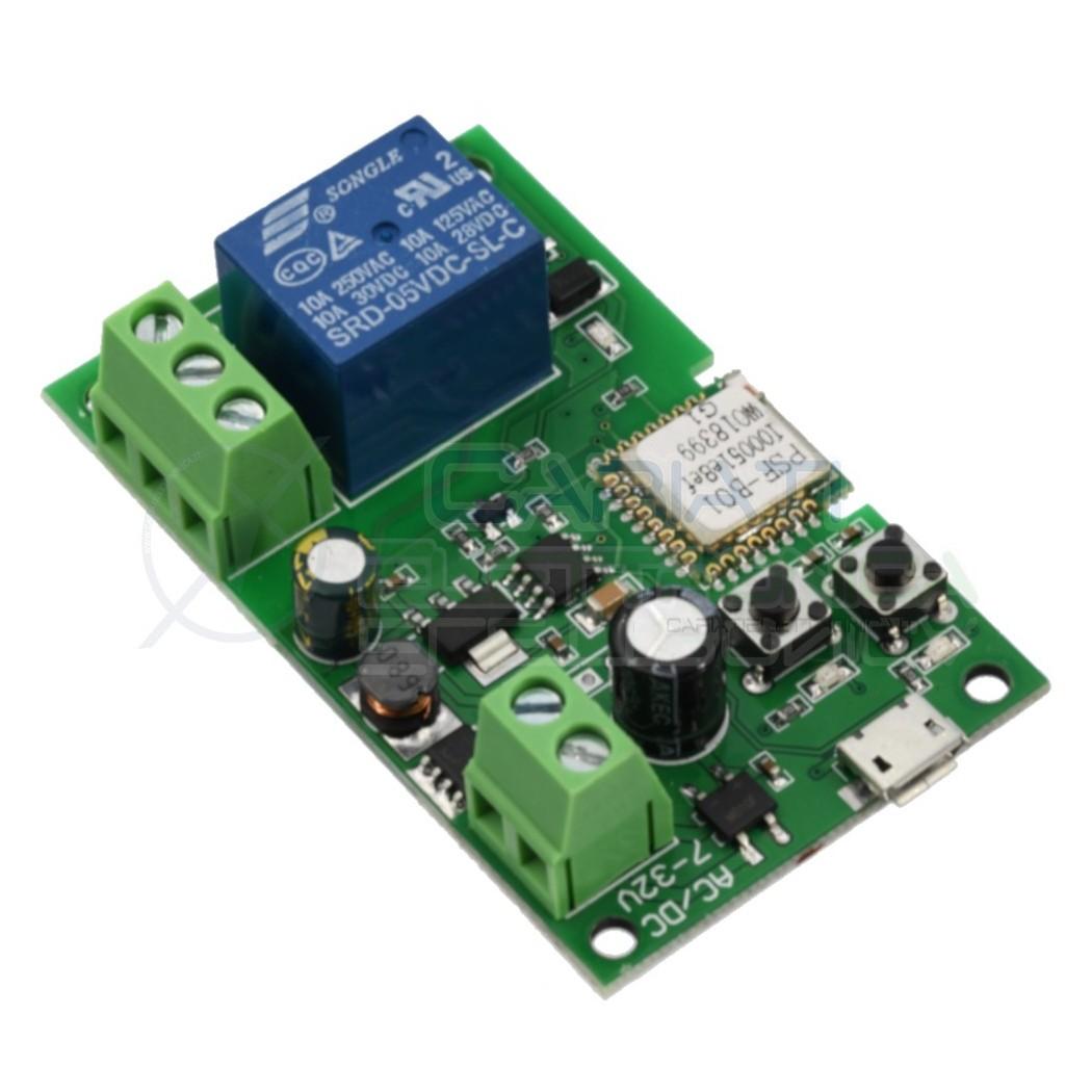 SCHEDA 1 RELè SONOFF BASIC 230V INTERRUTTORE WIFI INTERNET CON APP TELEFONO