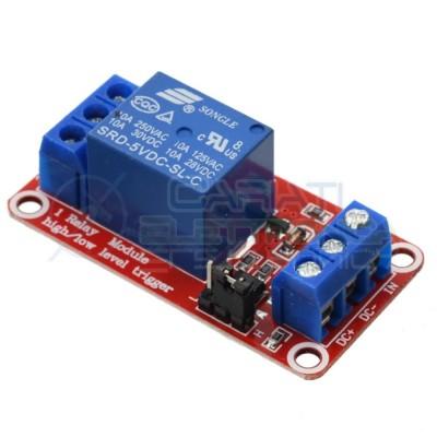 Scheda Relay Relè 5V Dc 10A Singolo 1 Scambio SRD-5VDC-SL-C SPDT PCB  1,59€