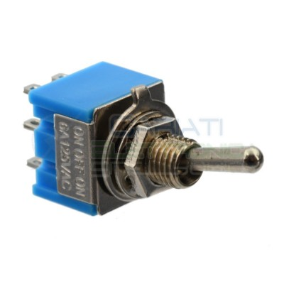 Interruttore Deviatore a Leva ON OFF ON 2A 250V 6 Pin DP3T Bilanciere