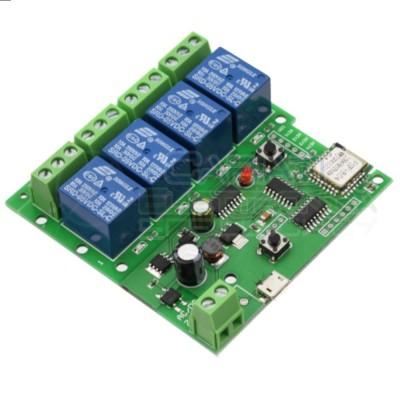 Board 4 Channel relay 10A WiFi Wireless 5V 12V 24V 32V Delay Relay Switch APP Remote Control