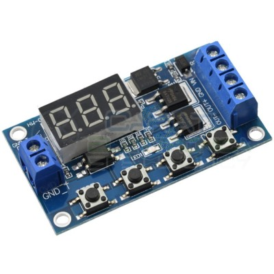 Scheda modulo temporizzatore timer multifunzione MOS 5V 12V 24V con display Generico