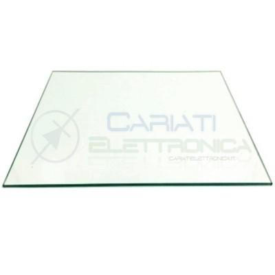 PIATTO Pannello di Vetro Temperato Trasparente 3mm per STAMPANTE 3D 3DRAG 213 X 200 X 3mm  8,99€