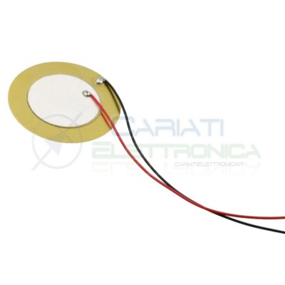 2 PEZZI Trasduttore piezo piezoelettrico con cavi diametro 35mm  1,39€