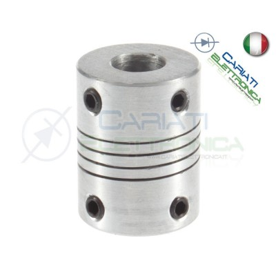 Accoppiatore 6,35 x 10 mm giunto in alluminio Nema23 coupler shaft OD19mm*25mm flexible  2,79 €