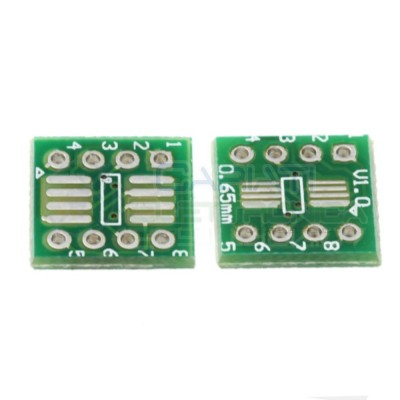 2 Pezzi Adattatore Basetta Test PCB SOP8 SO8 SOIC8 SMD a DIP8 Generico