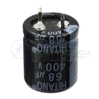 Condensatore elettrolitico HITANO SNAP IN 68uF 68 uF 400V 85°C 22X26mm PASSO 10mm