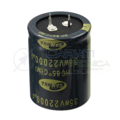 Condensatore elettrolitico SAMWHA SNAP IN 22000 uF 22000uF 35V 85°C 35 X 45 mmSamwha