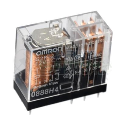 Relè OMRON G2R-2 bobina da 12V dc 5A 250Vac 5A 30Vdc DPDT Doppio scambio contatto Omron