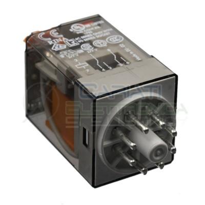 Relè Rele' FINDER 60.12.8.230.0040 OCTAL 10A 250V BOBINA 230VAC 2 CONTATTI DPDT Finder