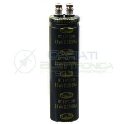 Condensatore elettrolitico SAMWHA SNAP IN 22000 uF 22000uF 63V 85°C 35x120mm Samwha 10,99€