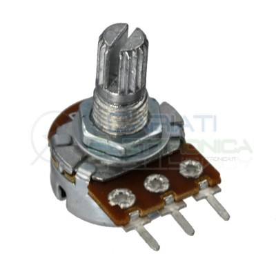 Potentiometer 10Kohm A10K single turn logarithmic shaft 15mm 10 Kohm