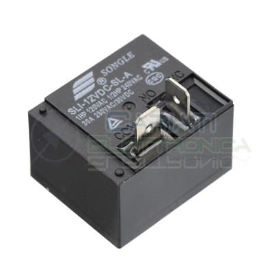 Relè Relay Songle 12V SLI-12VDC-SL-A Da 30A 250Vac 30Vdc SPST