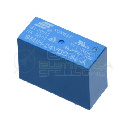 Relè Relay Songle 24V SMIH-24VDC-SL-A Da 8A 250Vac 30Vdc SPST Songle 1,29 €