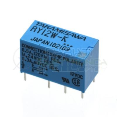 Relè doppio 2 scambio TAKAMISAWA RY12W-K 12VDC 12V DC 0.5A 120V DPDT  1,59€
