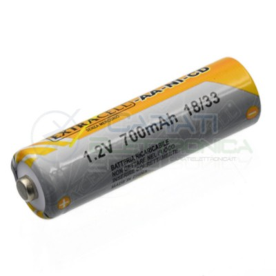 BATTERIA RICARICABILE NI-CD 1,2V 700mAh AA STILO Extracell Extracell