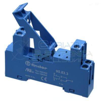 Portarelè Zoccolo DIN FINDER 95.83.3 300V 12A per Relè 5 pin Pcb porta Relay  5,60€